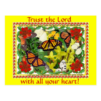 Trust the Lord with all your heart ! postcard