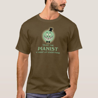 Trust the pianist green color cartoon T-Shirt