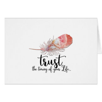 """""""Trust The Timing of Your Life""""   Boho Style Cards"""
