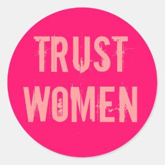 Trust Women Classic Round Sticker