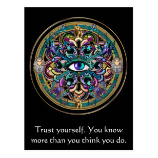 Trust Yourself ~ The Eyes of the World Mandala Postcard