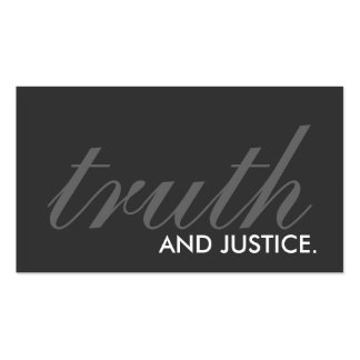 truth and justice. (color customizable) pack of standard business cards