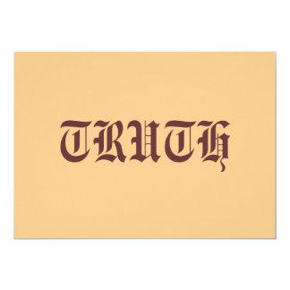Truth 13 Cm X 18 Cm Invitation Card
