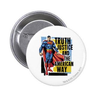 Truth, Justice 6 Cm Round Badge
