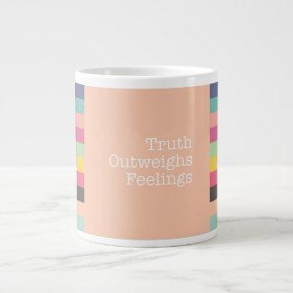 Truth Outweighs Feelings Jumbo Mug