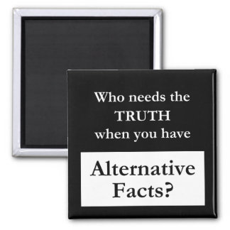 Truth vs. Alternative Facts Black Magnet
