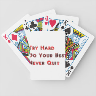 Try hard bicycle playing cards