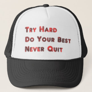 Try hard trucker hat