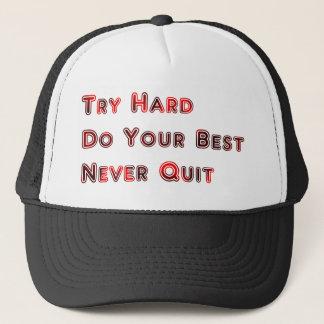 Try hard trucker hat