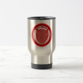 Try Jesus. If you don't like Him the devil will... Stainless Steel Travel Mug