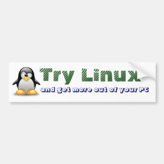 Try Linux Bumper Sticker