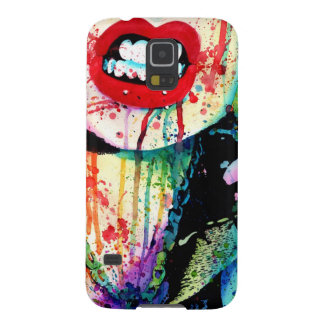 Try Me - Pop Art Rainbow Horror Portrait Case For Galaxy S5