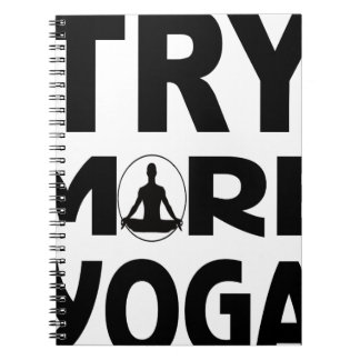 Try more yoga spiral notebook