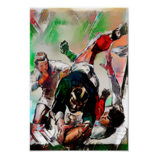 Try Time - Rugby Watercolour Art Print