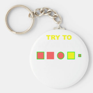 Try to solve this: basic round button key ring