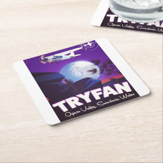 Tryfan,Ogwen Valley, Snowdonia, Wales Square Paper Coaster