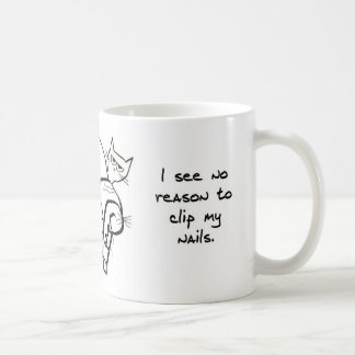 Trying to Clip the Cat's Nails - Funny Cat Mug