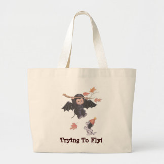 Trying To Fly! - Halloween Jumbo Tote Tote Bag