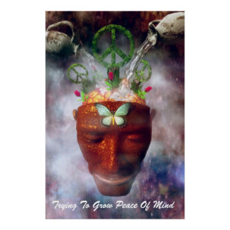 Trying To Grow Peace Of Mind Poster