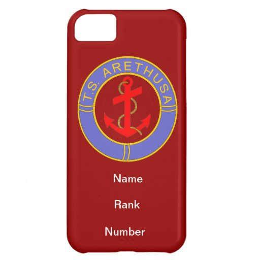 TS Arethusa Name Rank Number Customisable iPhone 5C Case
