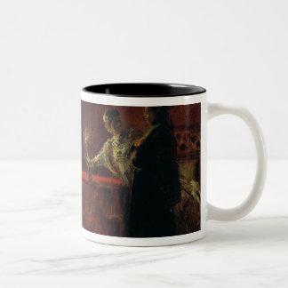 Tsar Boris Godunov  and Tsarina Martha, 1874 Two-Tone Coffee Mug