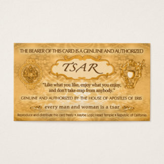 TSAR Card from Robert Anton Wilson (100 cards)
