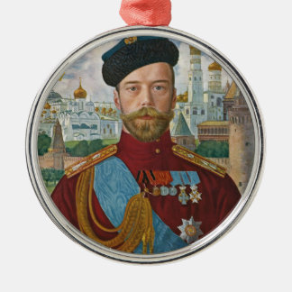 Tsar Nicholas II Metal Ornament
