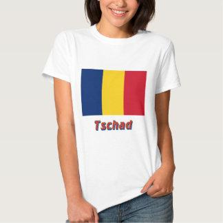 Tschad Flagge mit Namen Tshirt