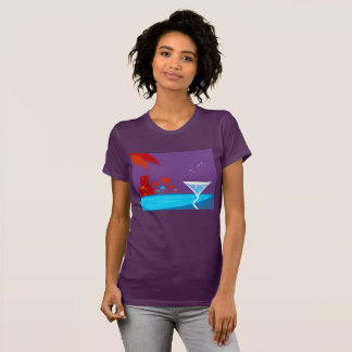 Tshirt EXOTIC vacation plum
