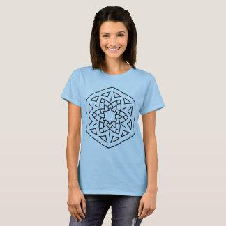 Tshirt for girl blue with mandala