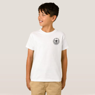 Tshirt for kids with logo on the frount of it