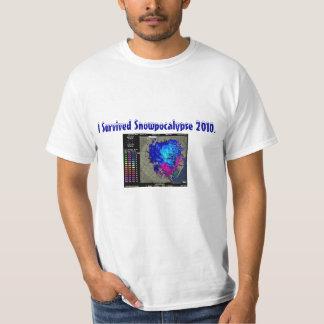 tshirt, I Survived Snowpocalypse 2010. T-Shirt