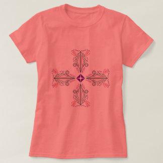 Tshirt with Arabic ornaments Peach