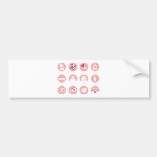 Tshirts with wedding Icons Bumper Sticker