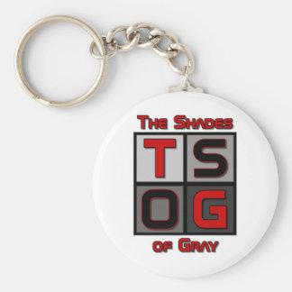 TSOG box logo Basic Round Button Key Ring