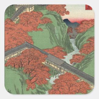 Tsūten Bridge, Tōfukuji Temple at Kyōto. Square Sticker