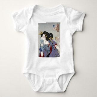 Tsukioka Yoshitoshi (月岡 芳年) - Looking in Pain Baby Bodysuit