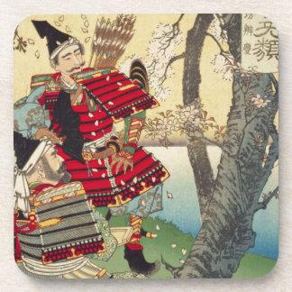 Tsukioka Yoshitoshi - Yoshitsune and Benkei Coaster