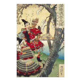 Tsukioka Yoshitoshi - Yoshitsune and Benkei Stationery