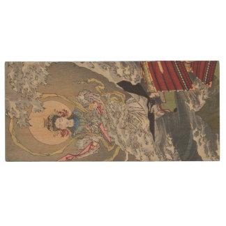 Tsukioka Yoshitoshi's Goddess in the Sea Wood USB Flash Drive