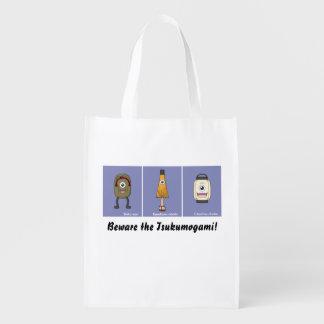 Tsukumogami Trio (Two-Sided) Reusable Grocery Bag