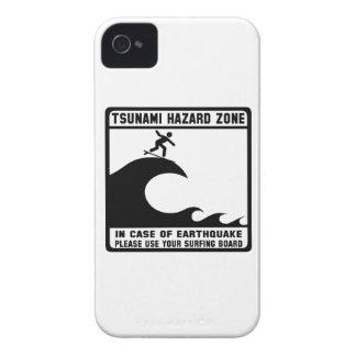 Tsunami Hazard Zone iPhone 4 Cases