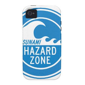 TSUNAMI HAZARD ZONE VIBE iPhone 4 CASES