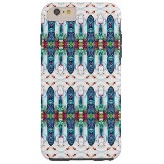 Tsunami Wave Kaleidoscope Art Modern Blue Tough iPhone 6 Plus Case