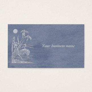 tsuru and irises business card