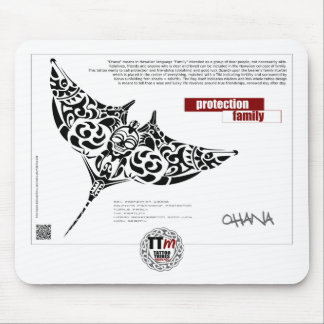 TT Meanings - OHANA manta ray Mouse Pad