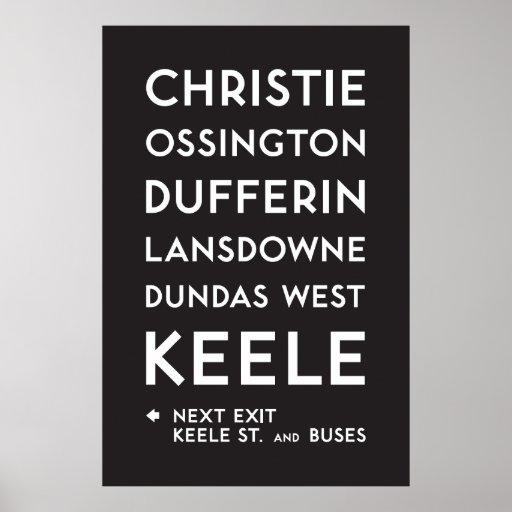 TTC - Bloor-Danforth Christie Poster
