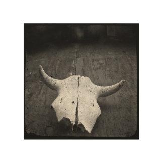 TTV photo Skull 8 x 8 on wood print