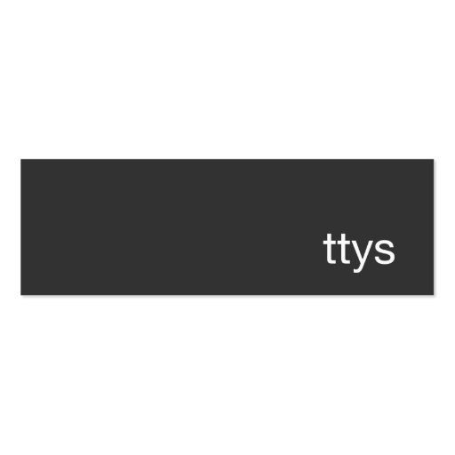Ttys Networking Minimalistic  Black Business Card