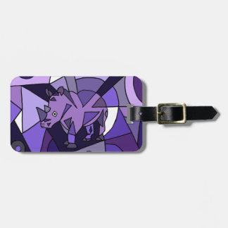TU- Amazing Rhino Abstract Art Design Luggage Tag